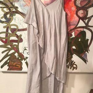 NWOT Free people silver metallic dress tunic M